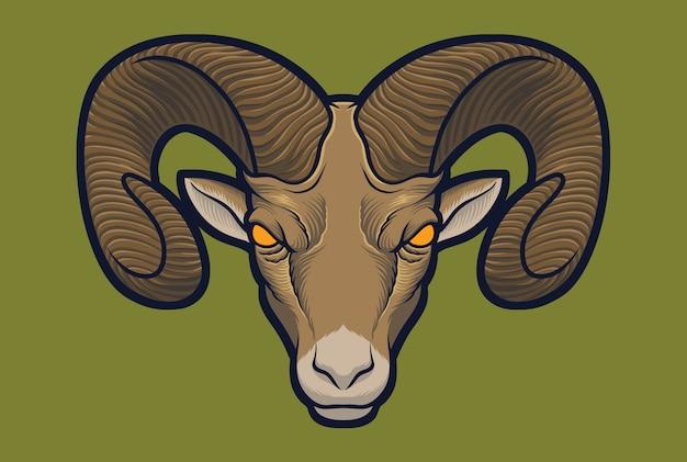 Bighorn sheep Premium Vector
