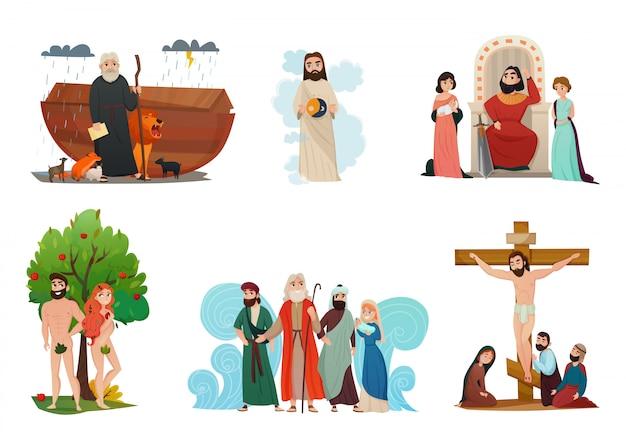 Bijbelverhalen set Gratis Vector