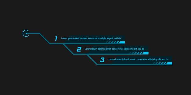 Bijschrift, headers voor infographics, reclame. Premium Vector