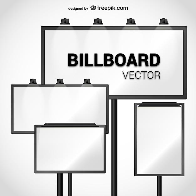 Billboard vector pack Gratis Vector