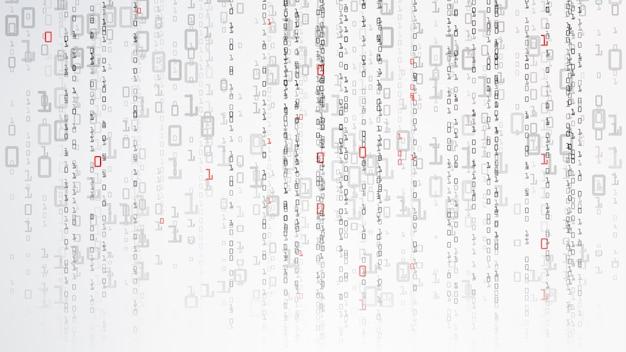 Binaire cyberspace-achtergrond Premium Vector