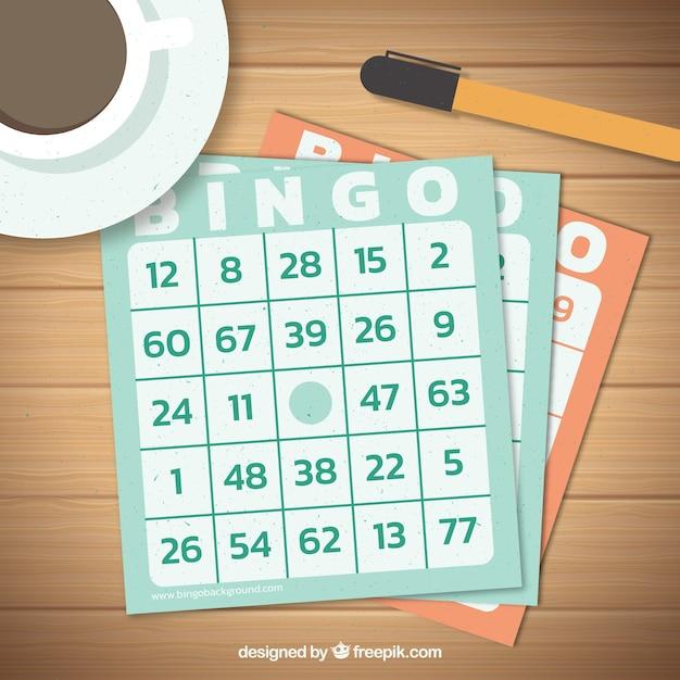 Bingo stembriefje achtergrond Gratis Vector