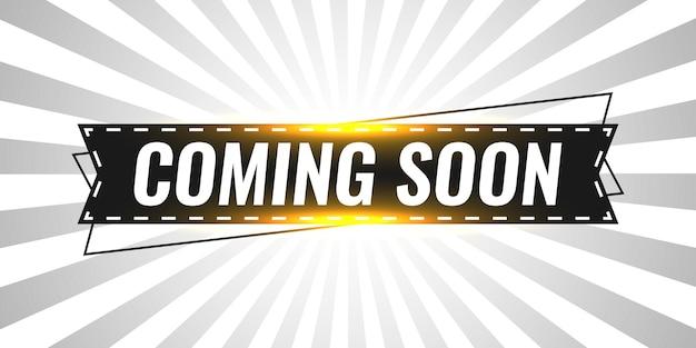 Binnenkort labelontwerp illustratie sjabloon Premium Vector