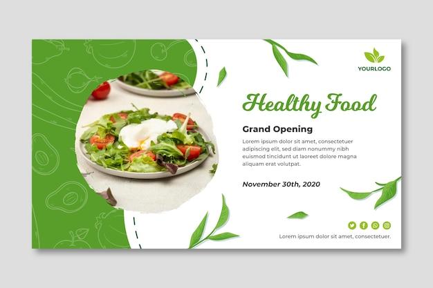 Bio en gezonde voedselbanner Premium Vector