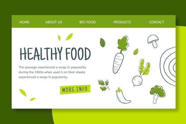 Bio & gezonde foodlanding-pagina Gratis Vector