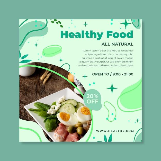Bio & gezonde voeding flyer Gratis Vector