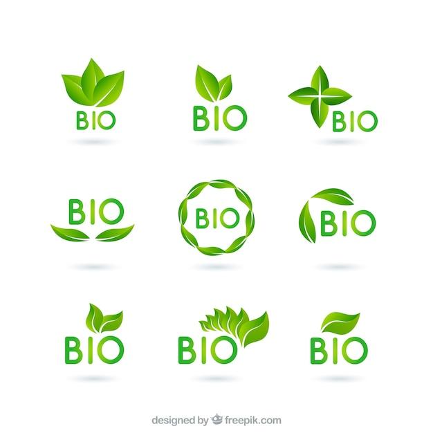 Bio logos Premium Vector