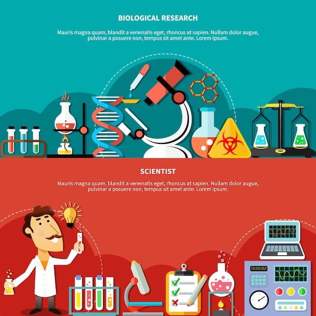 Biological science concept Gratis Vector