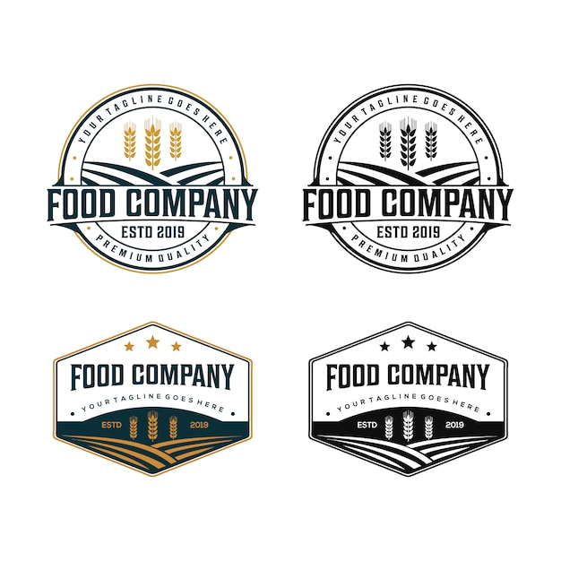 Biologisch voedsel bedrijfslogo Premium Vector
