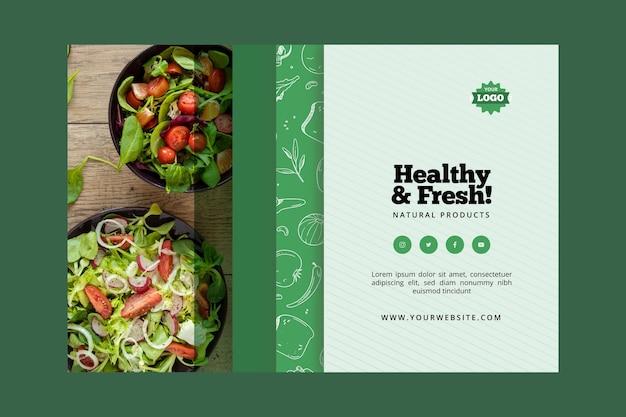 Biologische en gezonde voedselbannerstijl Premium Vector