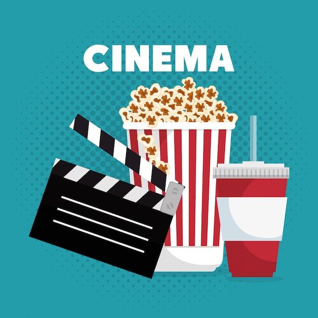 Bioscoop entertainment illustratie Gratis Vector
