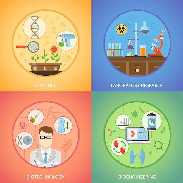 Biotechnologie en genetica Gratis Vector