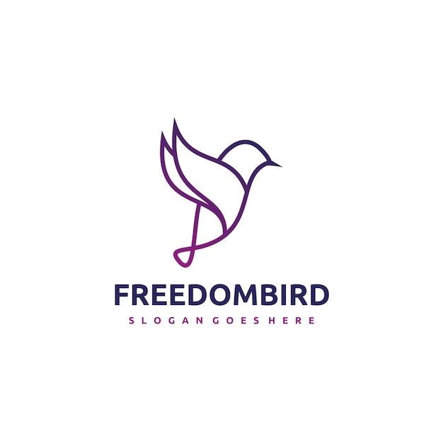 Bird logo Gratis Vector