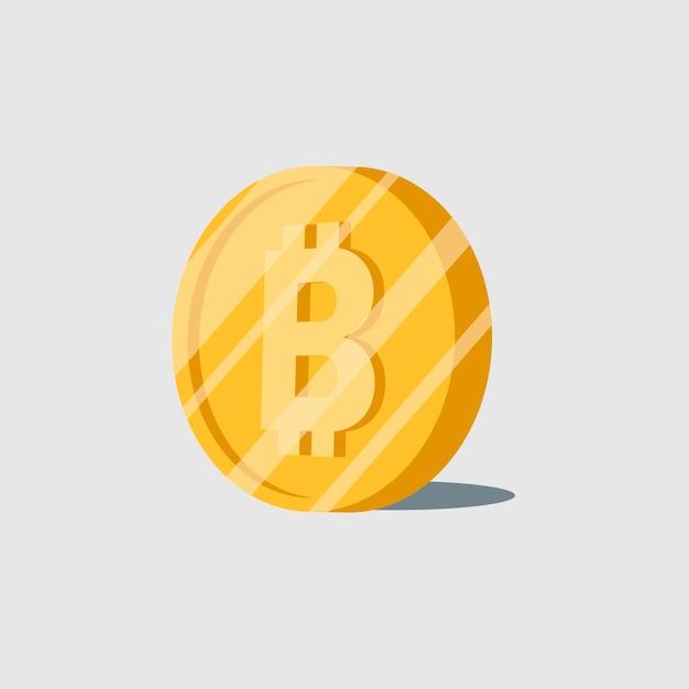 Bitcoin cryptocurrency elektronische contant geld symbool vector Gratis Vector