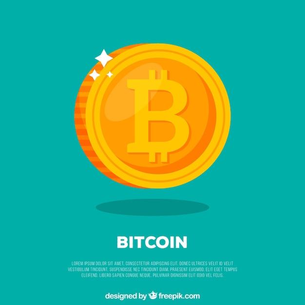 Bitcoin ontwerp Gratis Vector