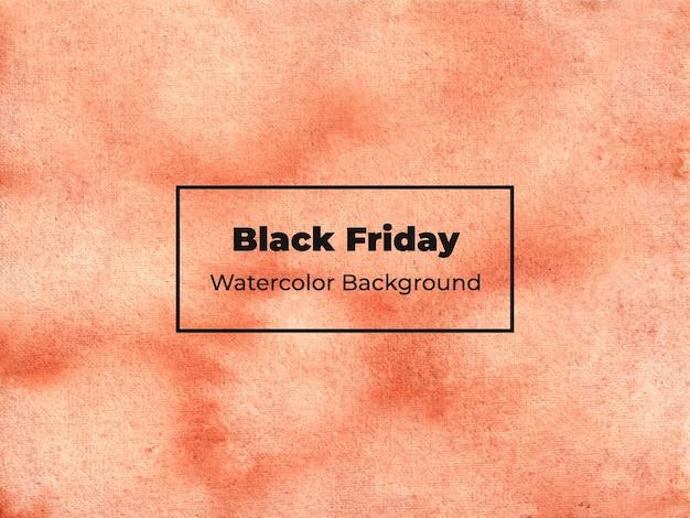 Black friday aquarel achtergrond Premium Vector