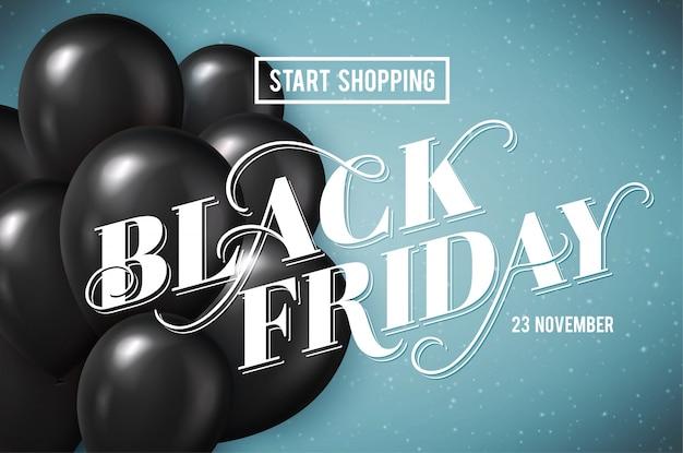 Black friday-banner Premium Vector
