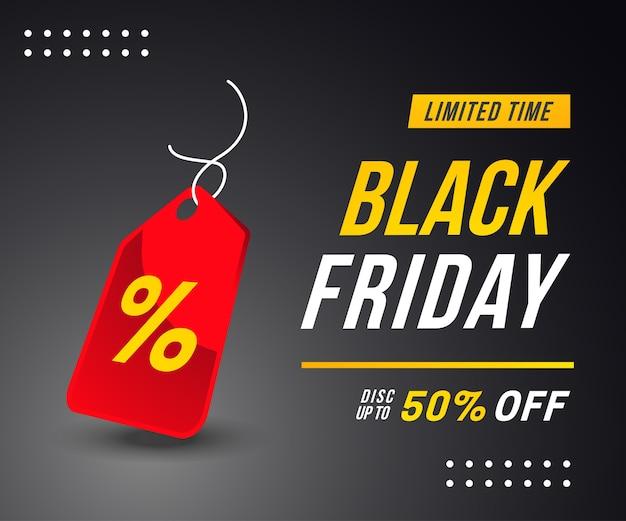 Black friday-bannerconcept Premium Vector