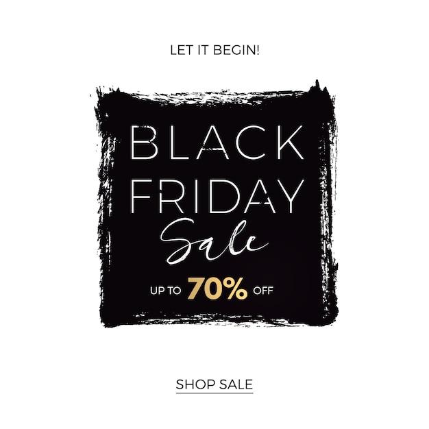 Black friday-sjabloon voor spandoek Premium Vector