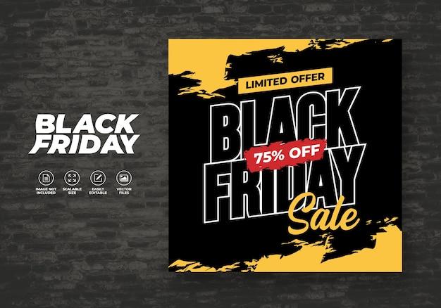 Black friday social media post feed banner sjabloon Premium Vector