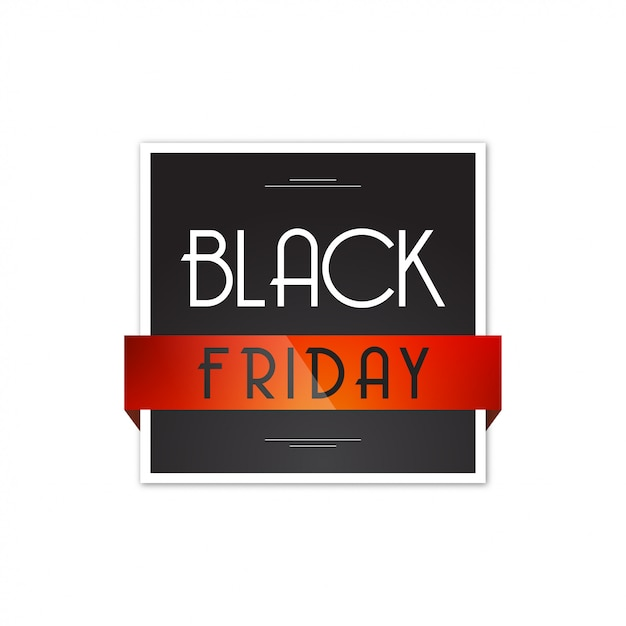 Black friday square design Premium Vector