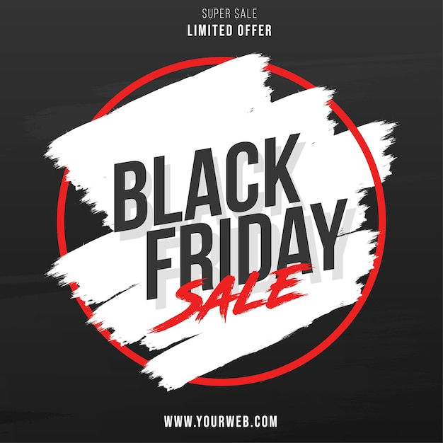 Black friday-uitverkoop met splash banner design Gratis Vector
