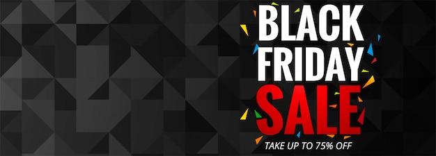 Black friday verkoop promotie poster of sjabloon voor spandoek Gratis Vector