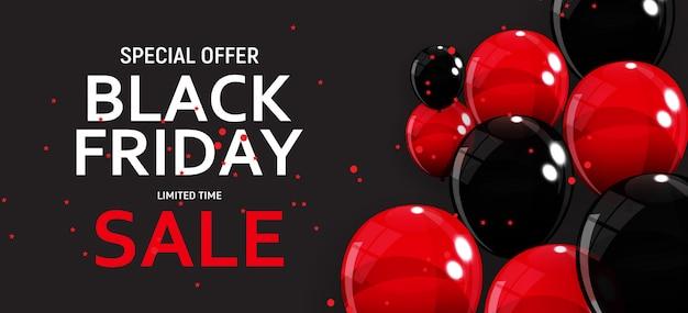Black friday verkoop sjabloon voor spandoek Premium Vector