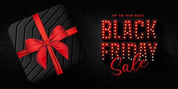 Black friday-verkoopbanner Premium Vector