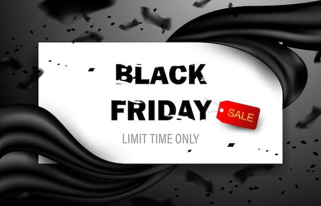 Black friday-verkoopposter. commerciële korting evenement banner. Premium Vector