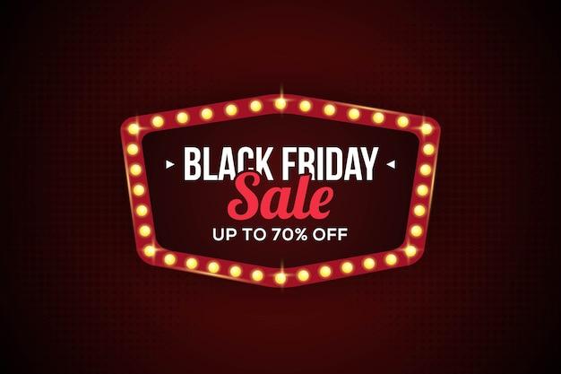 Black friday-verkoopsjabloon voor spandoek voor zakelijke promotie Premium Vector