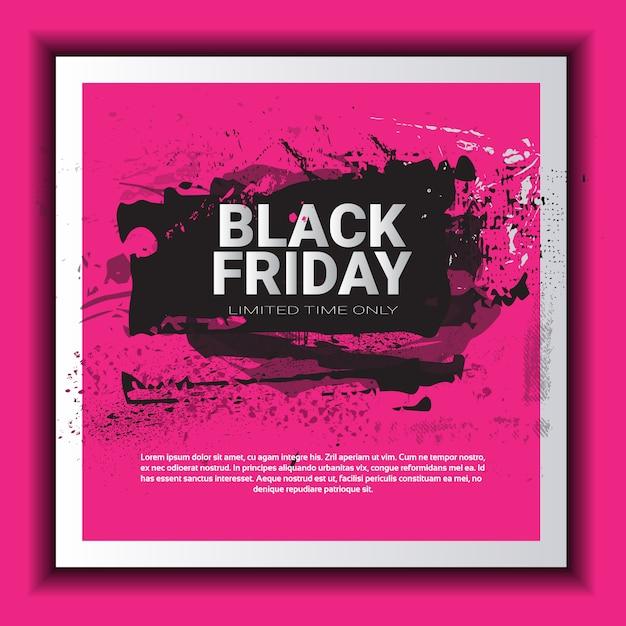 Black friday vierkante sjabloon voor spandoek Premium Vector