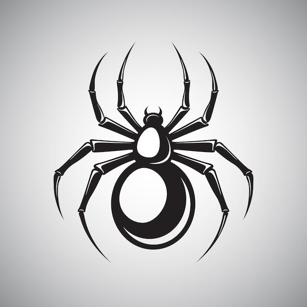 Black spider embleem Gratis Vector