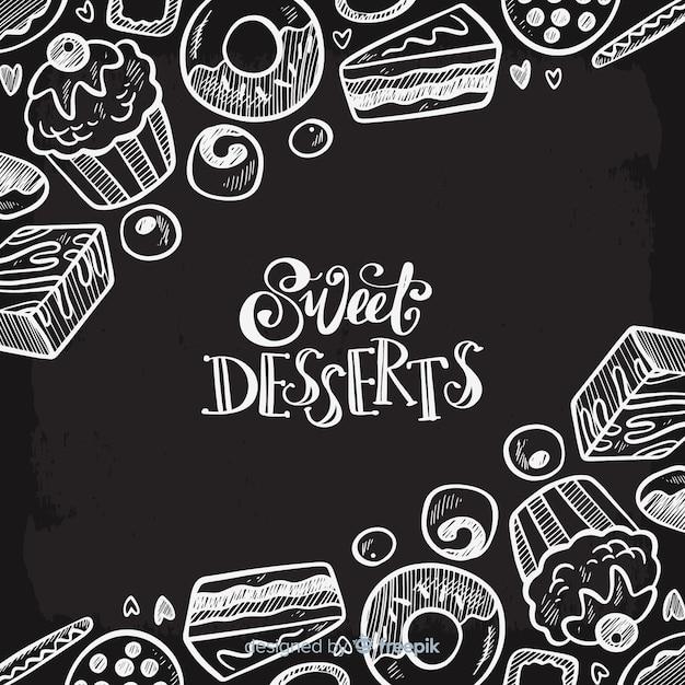 blackboard voedsel achtergrond vector