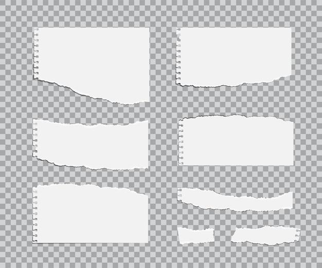 Blanc gescheurde vellen papier. Premium Vector