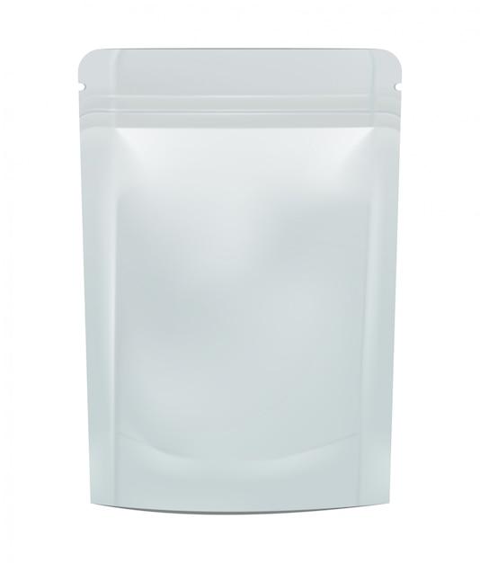 Blanco folie eten of drinken. illustratie geïsoleerd Premium Vector