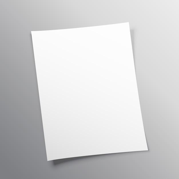 Blanco papier mockup vector design Gratis Vector