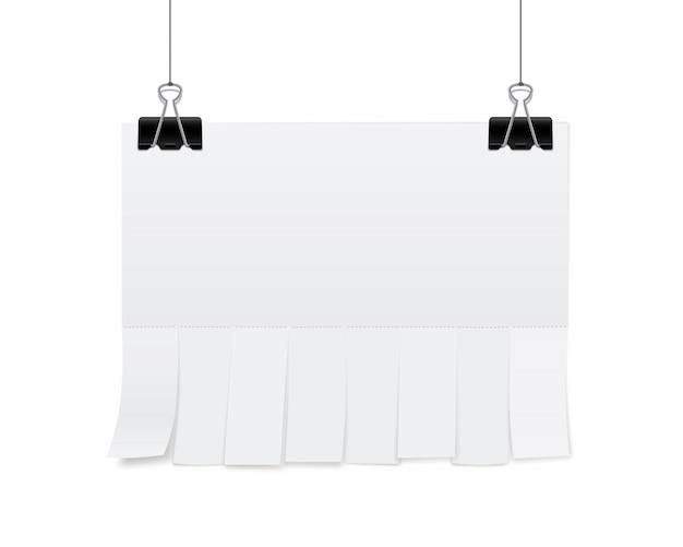 Blanco vel papier reclame Premium Vector