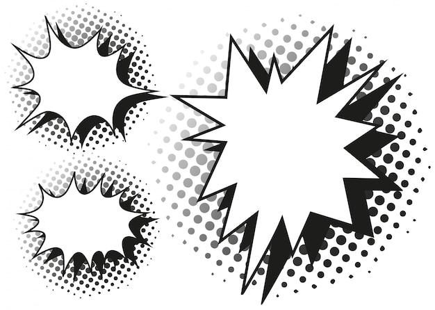 Blash splash-sjabloon in drie ontwerpen Gratis Vector