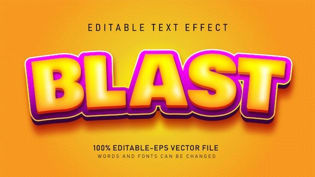 Blast text-effect Gratis Vector