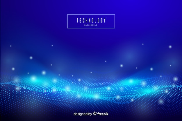 Blauw abstract technologiebehang Gratis Vector
