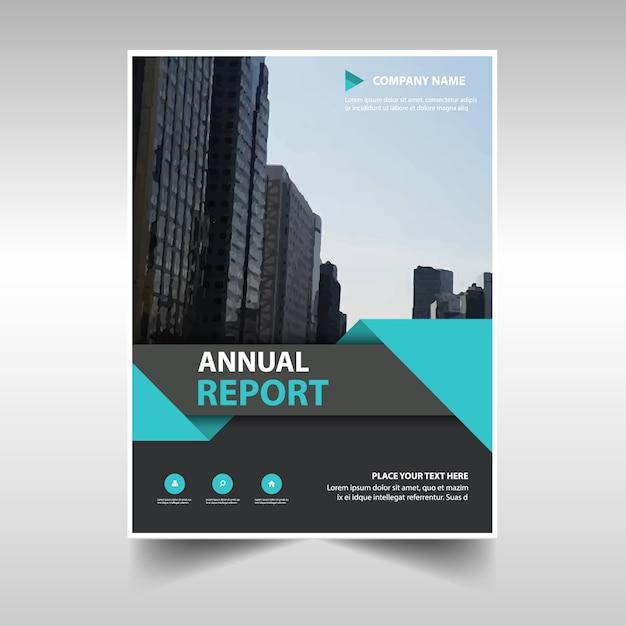 Blauw creatief jaarverslag boekomslag sjabloon Gratis Vector