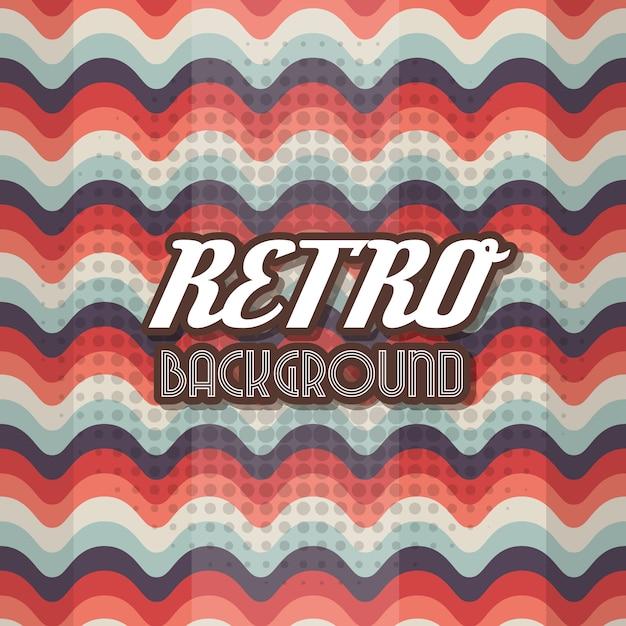 Blauw en rood retro achtergrondontwerp Gratis Vector