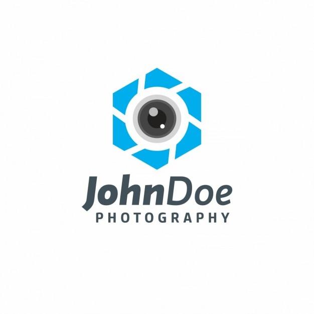 Blauw fotografie logo template vector gratis download for Camera blueprint maker gratuito