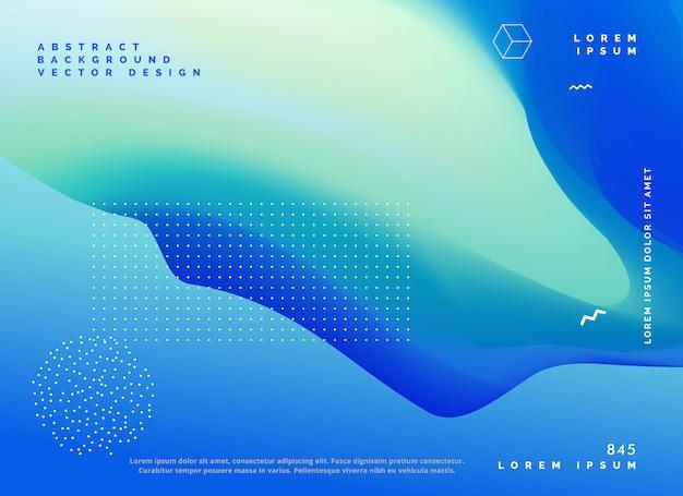 Blauw kleur verloop achtergrond posterontwerp Gratis Vector
