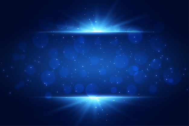 Blauw licht schittert achtergrond met copyspace Gratis Vector