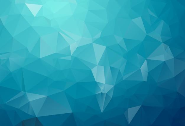 Blauw licht veelhoekige illustratie, die uit driehoeken bestaat. geometrische achtergrond in origamistijl met gradiënt. driehoekig ontwerp voor uw bedrijf. Premium Vector