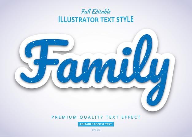 Blauw pop-up teksteffect Premium Vector