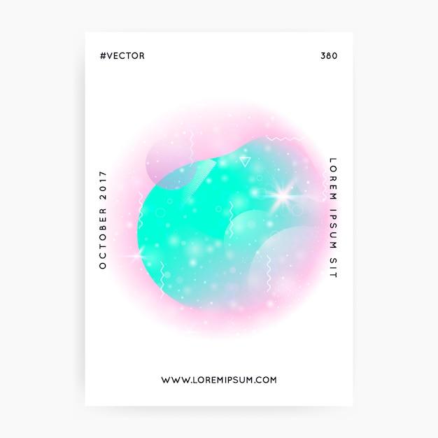 Blauw roze holografische achtergrond Premium Vector