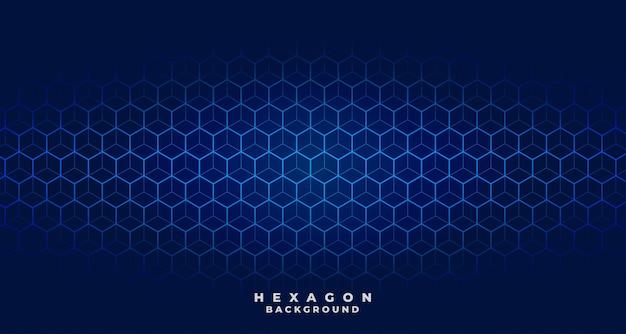 Blauw tech zeshoekig patroonontwerp Gratis Vector